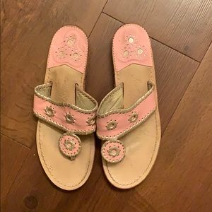 Jack Rogers Size 8 Pink/gold sandals